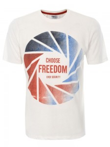 T-shirt kremowy Freedom